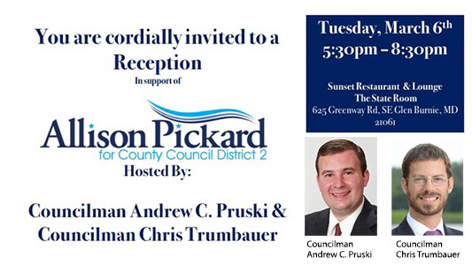 Allison Pickard for County Council Reception