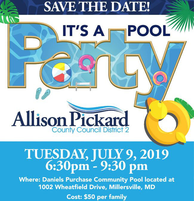 3rd Annual Allison Pickard Pool Party